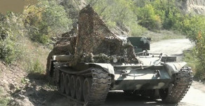 Azerbaijani military shows more military equipment abandoned by the Armenian side