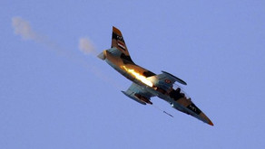 Syrian military air and artillery strikes against Turkish-backed militants in Idlib
