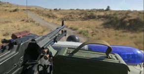 Russian Military Police patrolling the Golan Heights in Syria