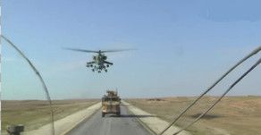 Foreign forces in Northern Syria | January 2020 | Russian patrol blocked by Americans