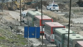 """""""Moderate"""" attack on the evacuation buses 