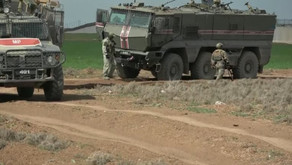 44th Russian-Turkish joint patrol in Darbasiyah district in Northeastern Syria