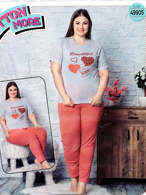 Ladies Pyjama Set S/S