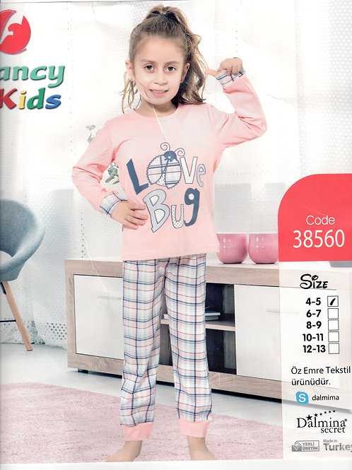 Girl's Pajama Set L/S