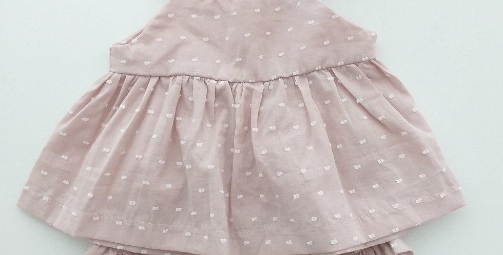 Conjunto Baby // Lese poá rosé