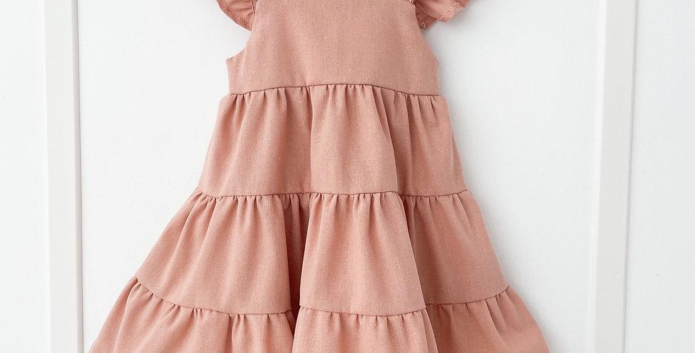 Vestido boho // Rosé