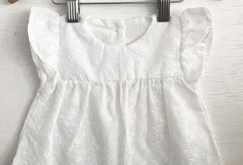 Bata Baby // Lese bordado off white