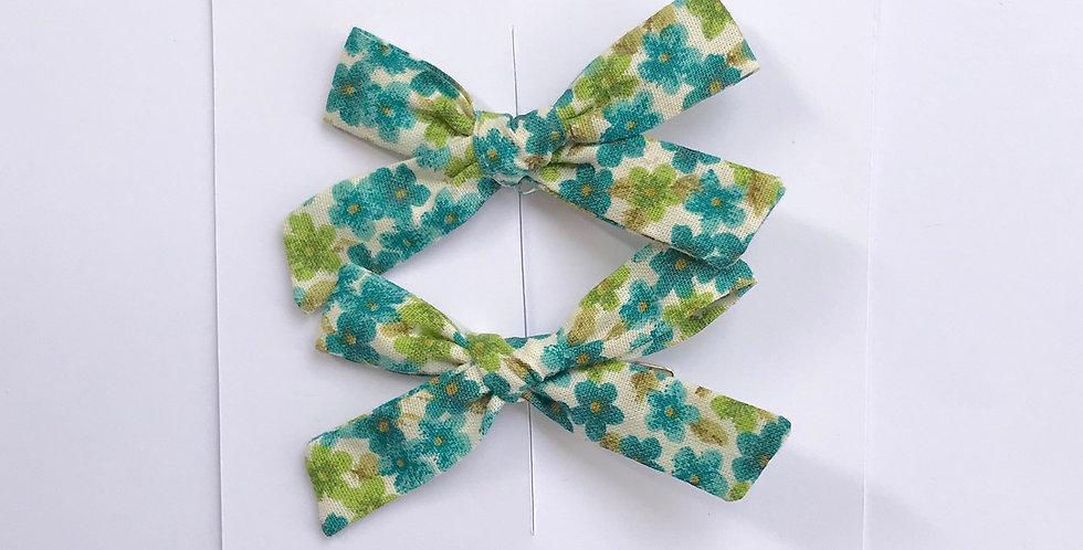 Par de Laços Paris P // floral de jade