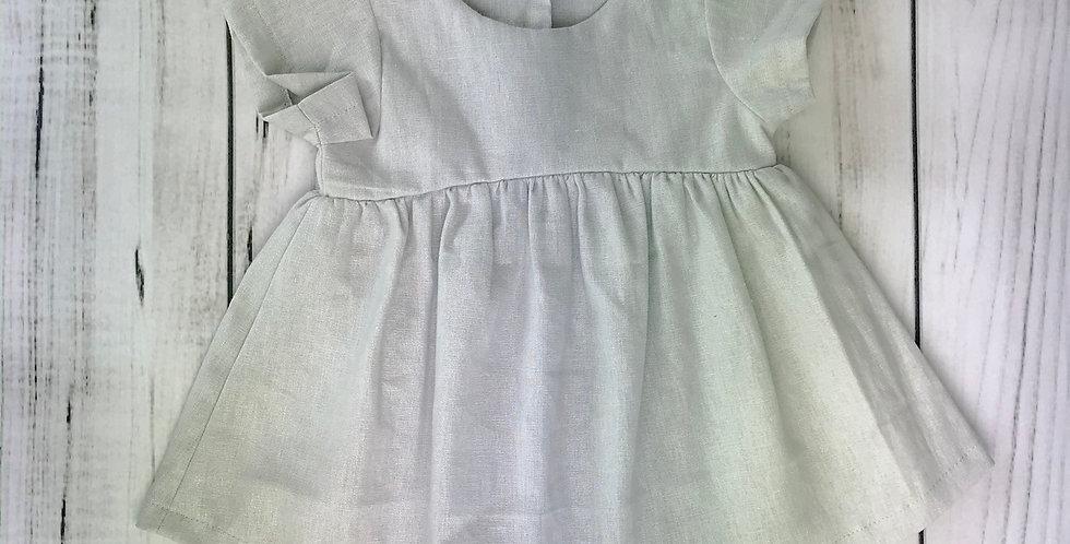 Vestido linho // cinza claro