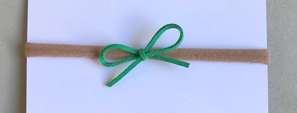 Faixa laço camurça // verde mar