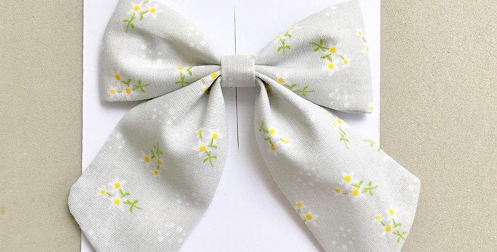 Laço sailor // Floral cinza mini