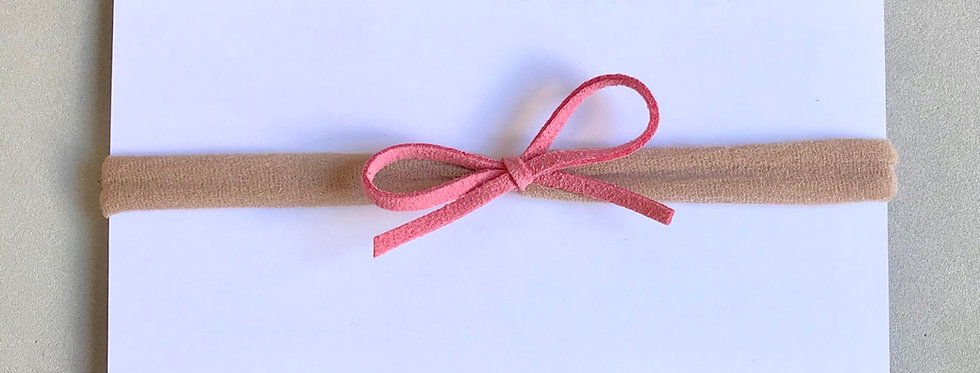 Faixa laço camurça // rosé
