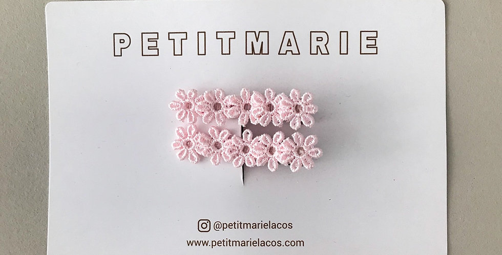 Par de clips flower // rosa baby