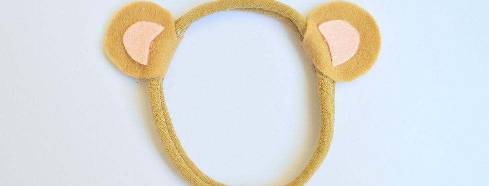 Faixa orelhinhas de urso // bege e rosa