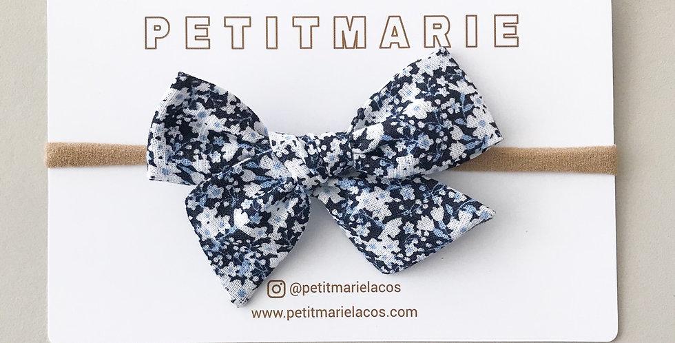 Laço Paris large M // floral mini azul