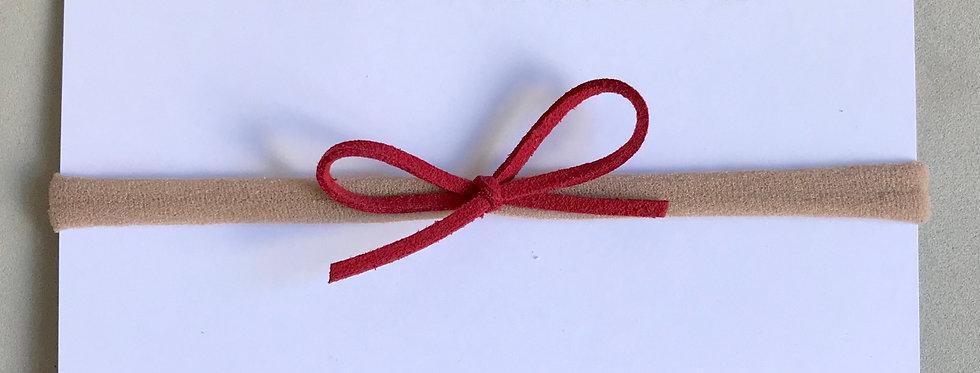 Faixa laço camurça //vermelho