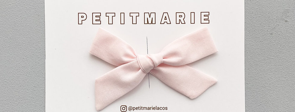 Laço Paris M // rosa bebê