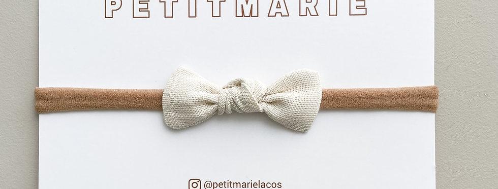 Laço Pétala // linho marfim