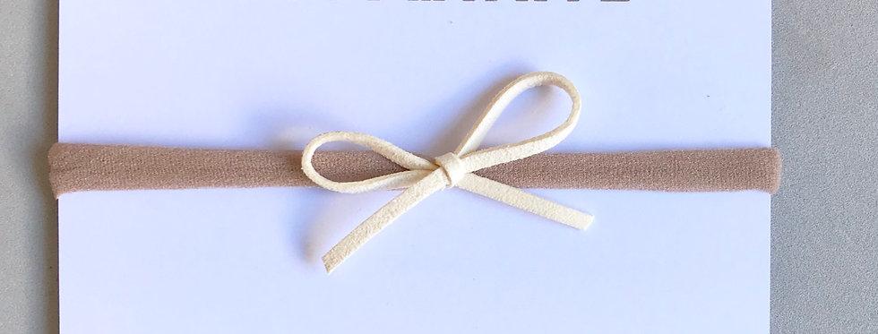 Faixa laço camurça //marfim