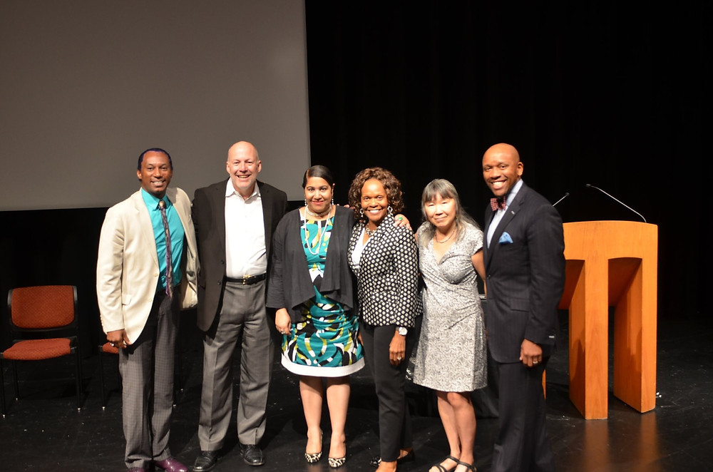 Diversity in the Arts: A Call to Action in ROC - from left: Thomas Warfield, Mark Nerenhausen, Rachel DeGuzman, Essie Calhoun, Nancy Gong, and Kevin McDonald