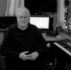 Composer Donald M. Skirvin in his music studio in Seattle.