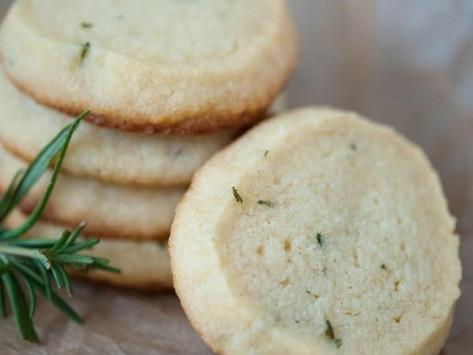Reality Bites: Rosemary Walnut Shortbread Cookies