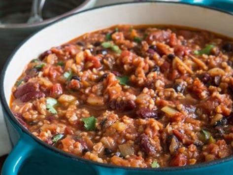 Reality Bites: Crowd-Pleasing Crock Pot Chili with Cilantro-Avocado Cream