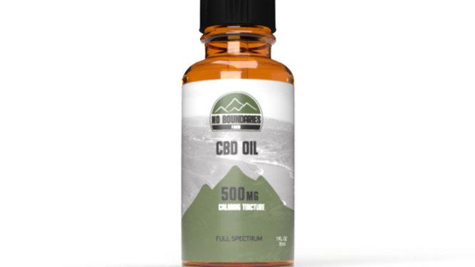 No Boundaries Farm 500mg nano-infused CBD Oil Tincture Front View