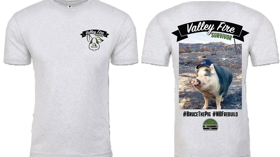 Bruce the Pig Valley Fire Survivor - Mens Shirt