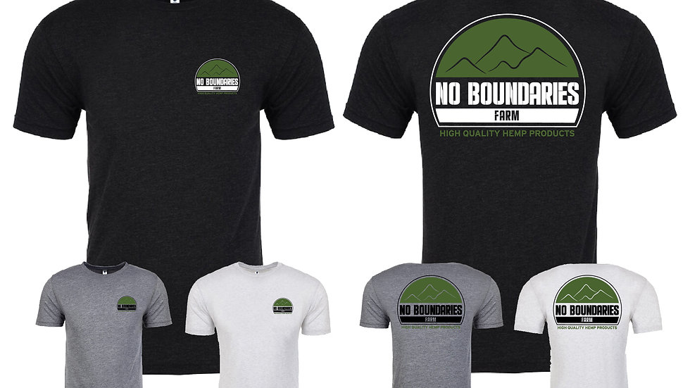 Mens shirt No Boundaries Farm logo in color variation