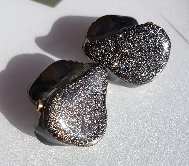 Glitzer black-silver