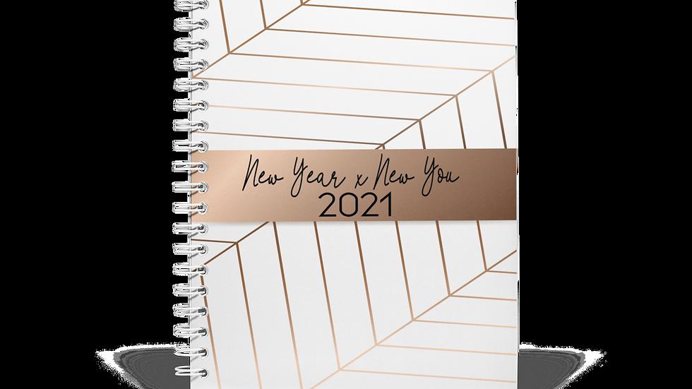 2021 New Year x New You Planner -Elegant White