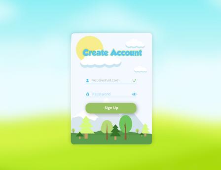 Account Creation - Kids App