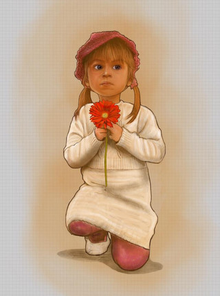 girl with flower...