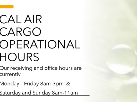 Cal Air Cargo Operational Schedule