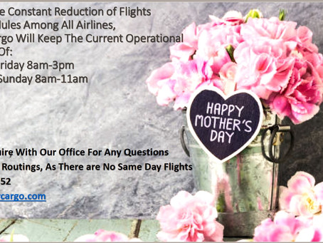 Mother's Day 2020 Schedule