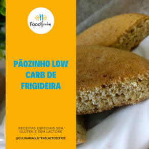 Pãozinho low carb de frigideira