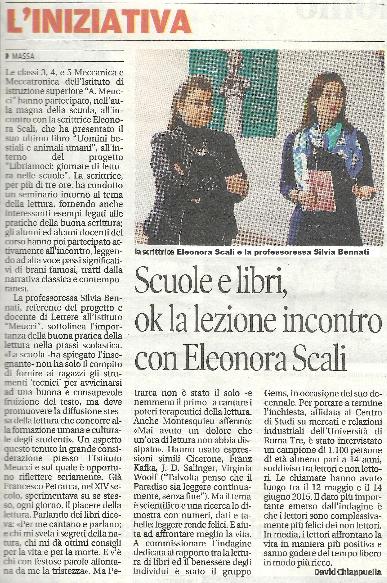 Favole Personalizzate - Il Tirreno - LIBRIAMOCI 2015 alla Poggi Carducci di Sarzana