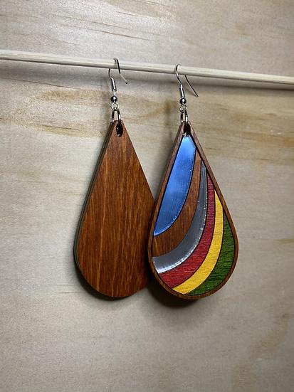 Ribbon Earrings #16 (w/Acrylic)