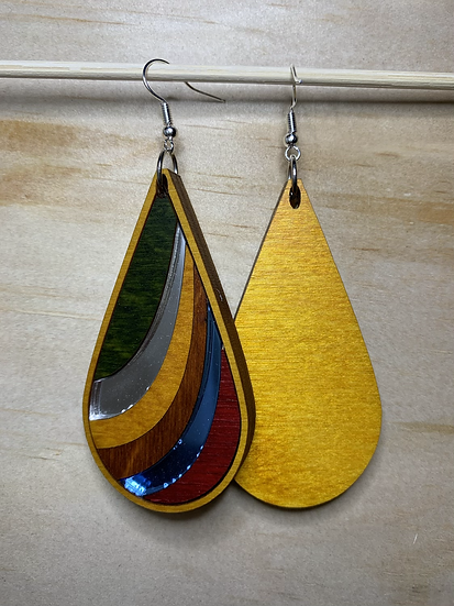 Ribbon Earrings #17 (w/Acrylic)
