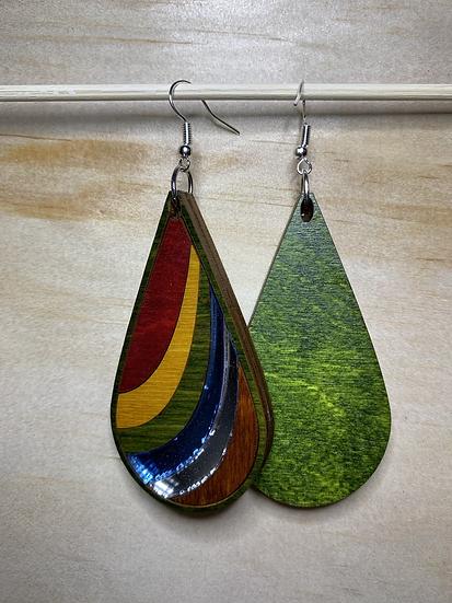 Ribbon Earrings #15 (w/Acrylic)