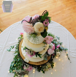 Summer Blooms Wedding Cake