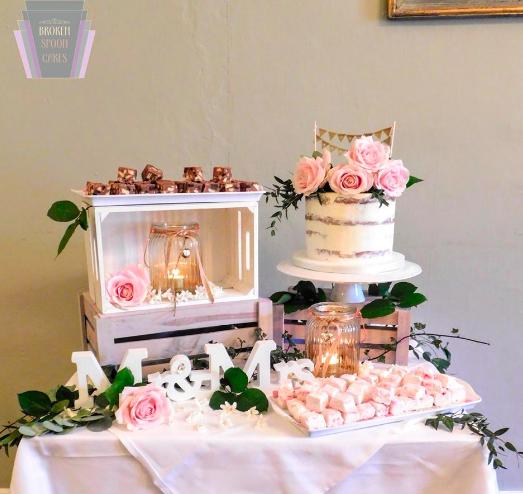 Sweet Avalanche Wedding Cake