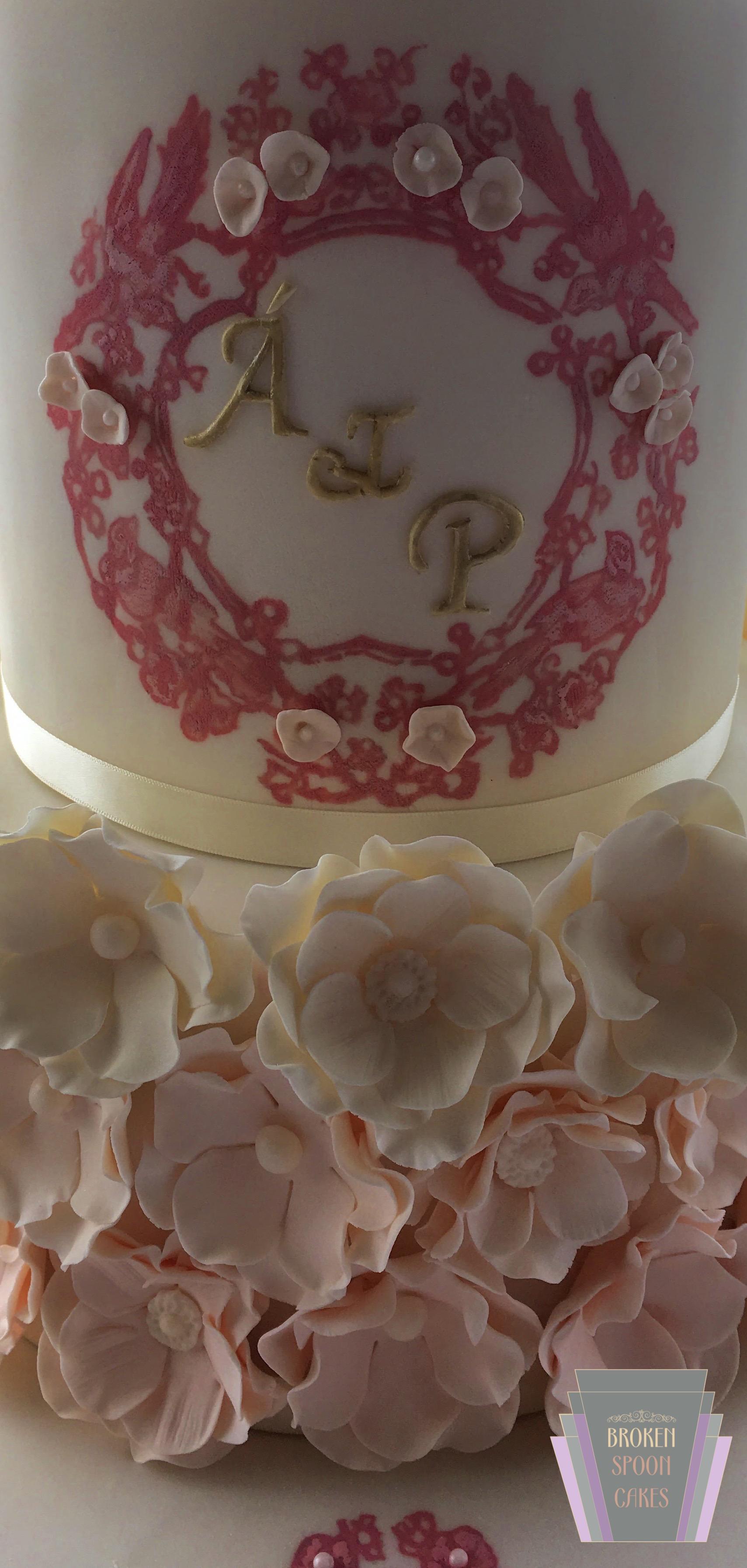 Blossom & Pearl Wedding Cake 3