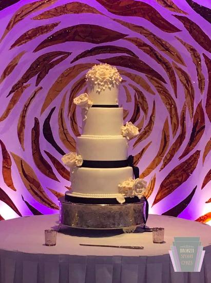 Classical Black & White Wedding Cake