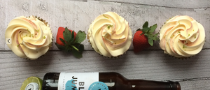 Strawberry & Lime IPA Cupcakes made with Blue Jumper IPA from Western Brewing Herd Company