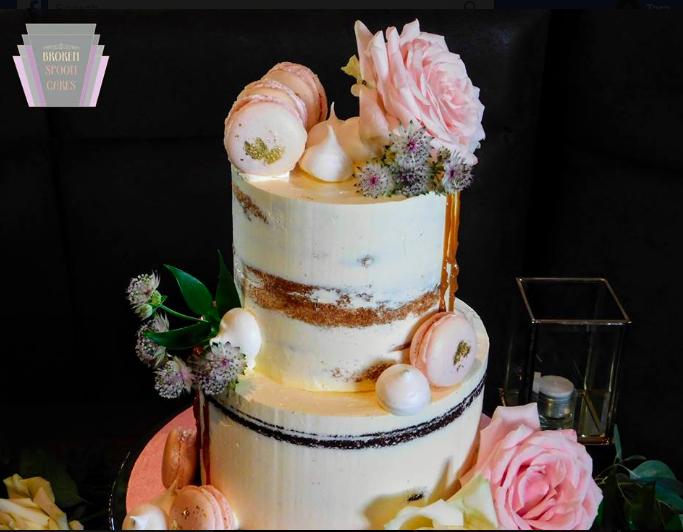 Sweet Florals Weddin Cake