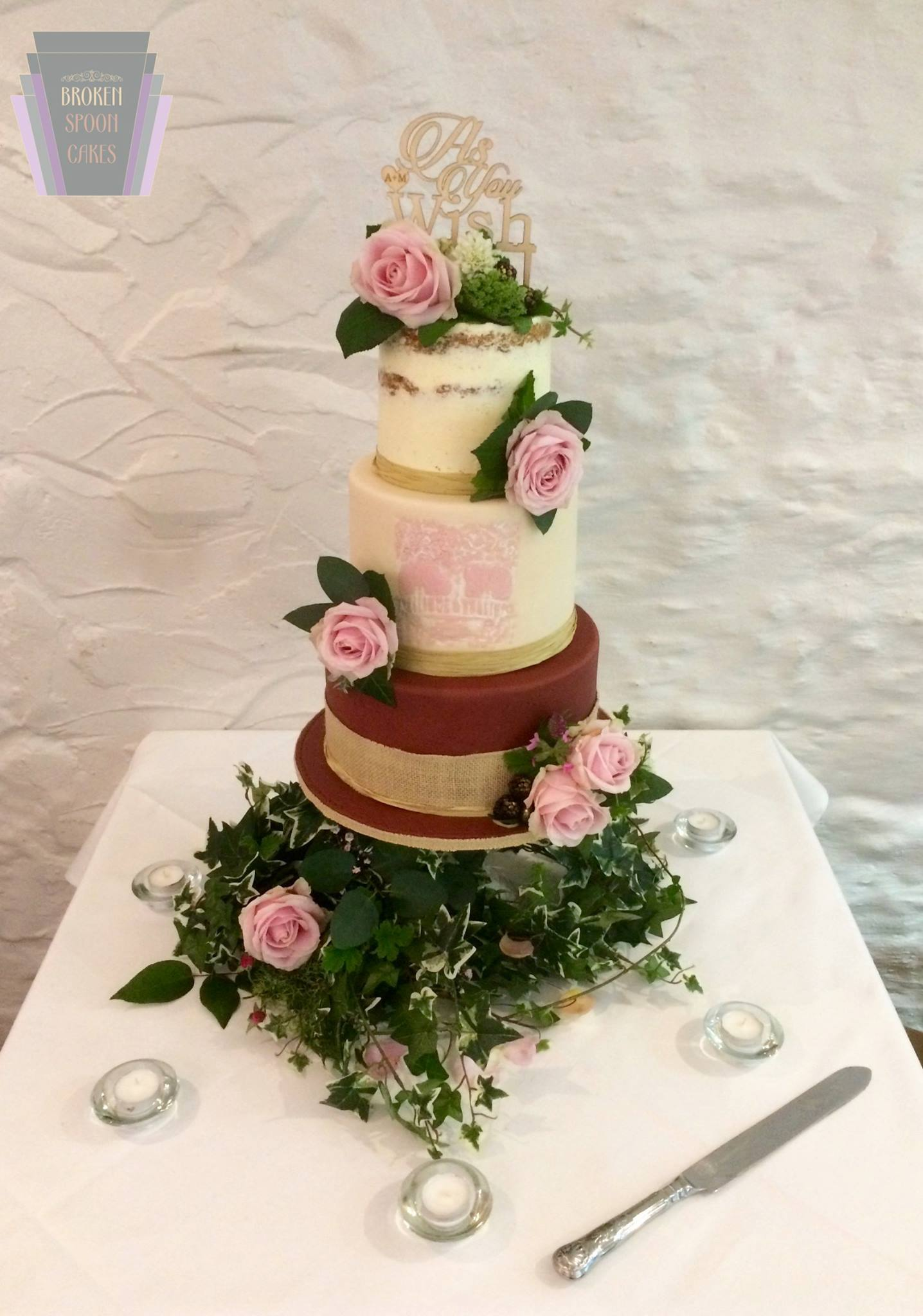 As You Wish Wedding Cake