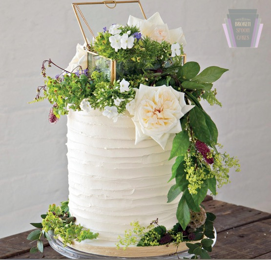 Botanical Wedding Cake For Photo Shoot With Confetti Magazine - Image by Peter Love of Photography Studio.ie