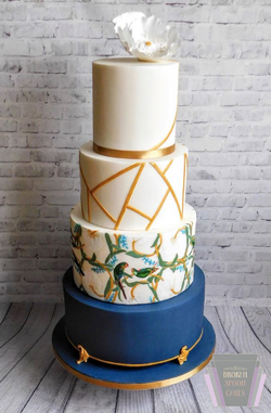 Art Deco Glamour Wedding Cake
